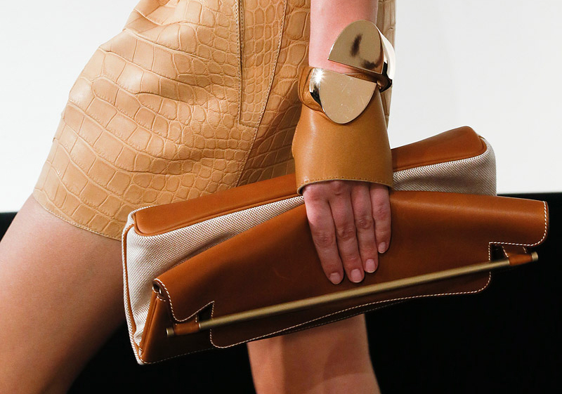 Hermes Natural Gold Folded Clutch sac printemps 2013 Runway